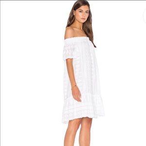 Rebecca Taylor white off the shoulder dress